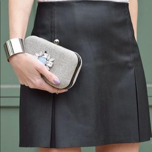 Express Black Leather Skirt